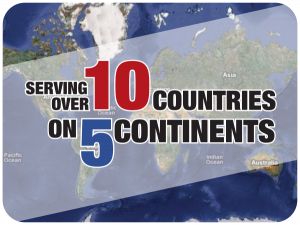 Serving Over 10 Countries on 5 Continents